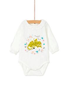 Body blanc col dentelle bébé fille KIBRIBOD / 20WG09F1BOD001
