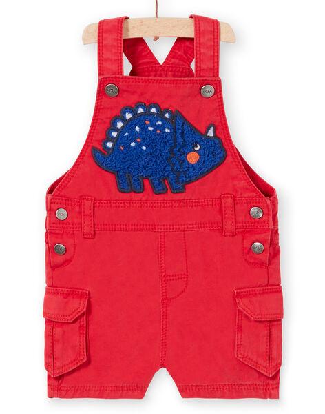 Salopette courte rouge bébé garçon LUCANSAC / 21SG10M1SACF505