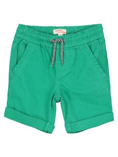 Short en coton vert garçon FOJOBERMU1 / 19S902G1D25G619