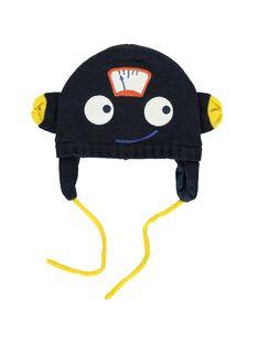 Bonnet avec cache-oreilles bébé garçon DYUBLEBON / 18WI1091BON702
