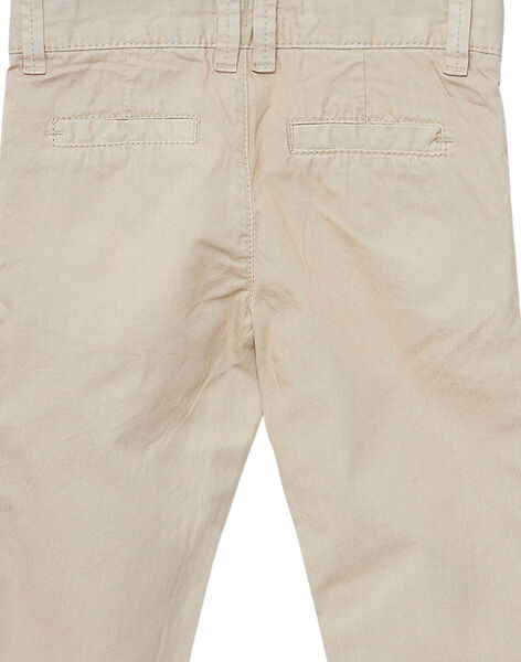 Pantalon chino garçon beige JOJOPACHI1 / 20S90244D2B080