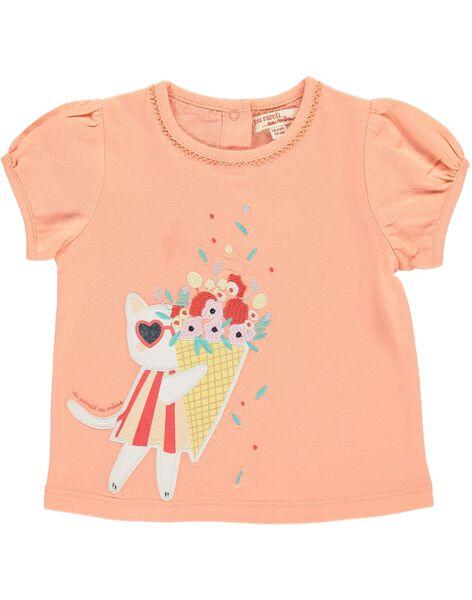 Tee-shirt manches courtes bébé fille CIBUTI2 / 18SG09K1TMC401