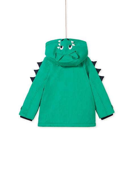 Imperméable gomme vert animation capuche enfant garçon KOGROIMP2 / 20W902J1D59G623