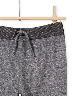 Pantalon de jogging en molleton gris chiné enfant garçon MOTUJOG / 21W902K1JGBJ922