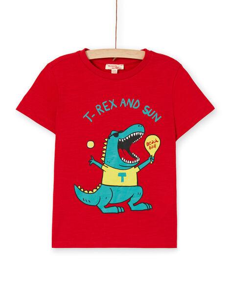 Tee Shirt Manches Courtes Rouge LOJOTI4 / 21S90232TMC050