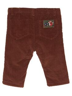 Pantalon velours cannelle bébé garçon GUBRUPAN2 / 19WG10K2PAN809