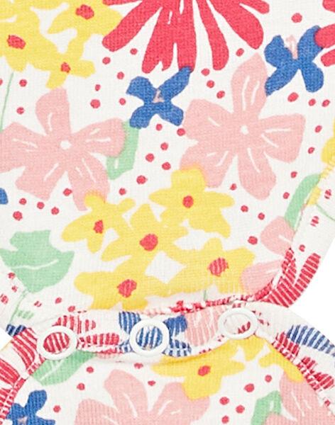 Body manches courtes layette fille imprimé fleuri KEFIBODFLE / 20WH1392BDL001