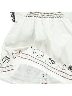 Robe manches courtes bébé fille CIBENROB2 / 18SG09G2ROB001