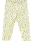 Legging imprimé cœurs jaunes bébé fille JYITROLEG / 20SI09F1CAL000