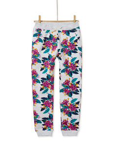 Pantalon gris chiné, imprimé floral  KAJOBAJOG1 / 20W90154D2A943