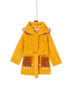 Robe de chambre enfant garçon motif lion KEGOROBLIO / 20WH12B1RDCB107