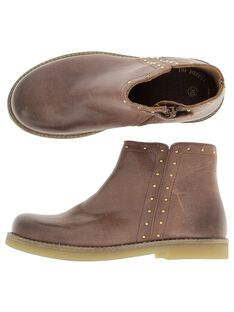 Boots en cuir fille DFBOOTCHRI / 18WK35TBD0D804