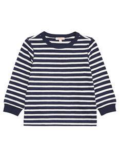 Tee shirt manches longues rayé enfant garçon KOJOTIRIB1 / 20W90236D32705