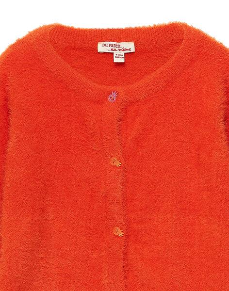 Cardigan Orange en maille plume JAVICAR / 20S901D1CAR406