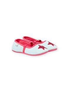 Pantoufles gris chiné motif étoile enfant fille MAPANTSTAR / 21XK3536D07943