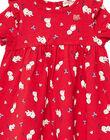 Robe imprimée en jersey bébé fille JIGRAROB2 / 20SG09E2ROB050