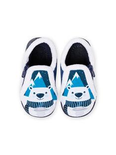 Chaussons bicolores motif ours bébé garçon MUPANTPOL / 21XK3821D0A070