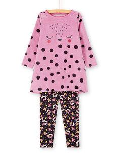 Chemise de nuit enfant fille motif renard KEFACHUWOO / 20WH11C1CHNH706