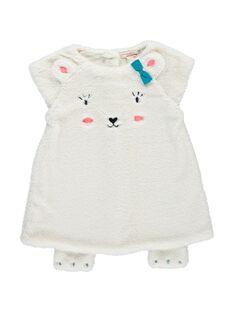 Robe en fourrure synthétique bébé fille DIGIROB2 / 18WG09N2ROB001