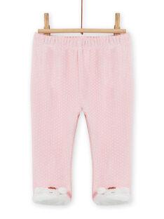 Ensemble pyjama en soft boa motif ourson bébé fille MEFIPYJOUR / 21WH1391PYJ001