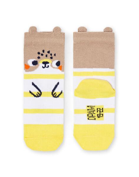Paire de chaussettes layette garçon  LYUNOCHO1 / 21SI10L1SOQ001