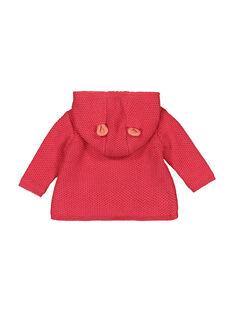 Veste en maille à capuche bébé fille FIBAVEST1 / 19SG09X1VES308
