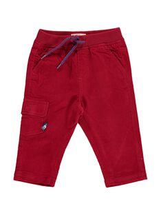 Pantalon en velours rouge bébé garçon DUJOPAN6 / 18WG1036PAN510