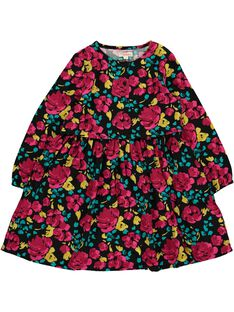 Robe manches longues fluide fille DAROBE2 / 18W90182ROB099