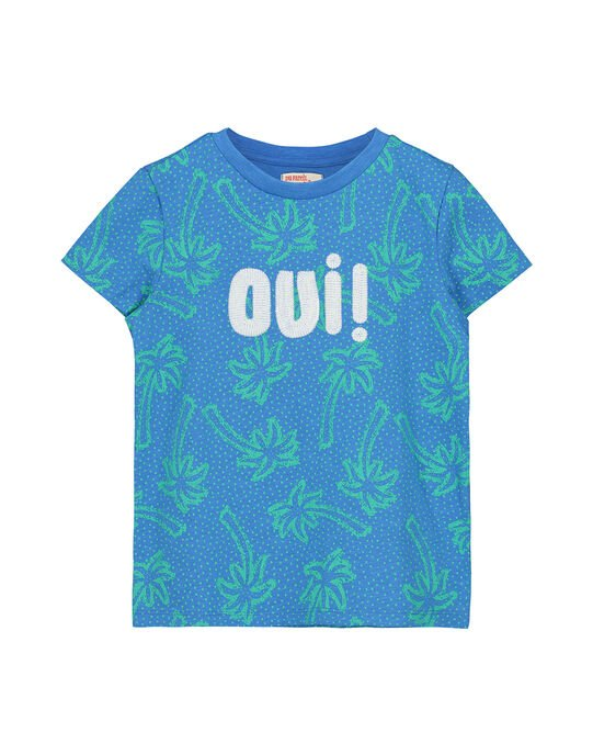 Tee Shirt Manches Courtes Bleu FOTOTI6 / 19S902L6TMCC215