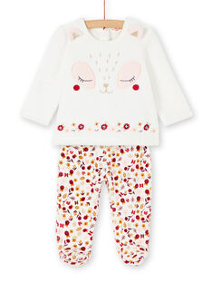 Pyjama layette fille motif renard  KEFIPYJCHA / 20WH13C1PYJ001