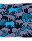 Tour de cou marine en polaire avec motif ours polaire.  GYOSKISNO / 19WI02W1SNO705