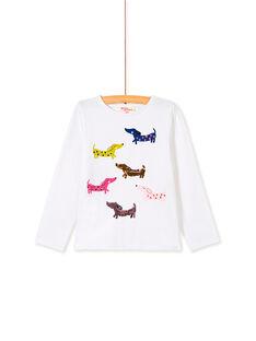 T-shirt manches longues, imprimé chien et sequins réversible KARETEE5 / 20W901G1TML001