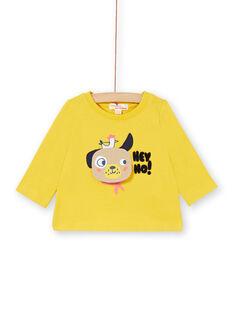 Tee Shirt Manches Longues Jaune LUNOTEE2 / 21SG10L2TML106