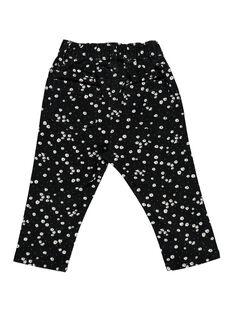 Pantalon en twill bébé fille CIBENPAN2 / 18SG09G2PAN099