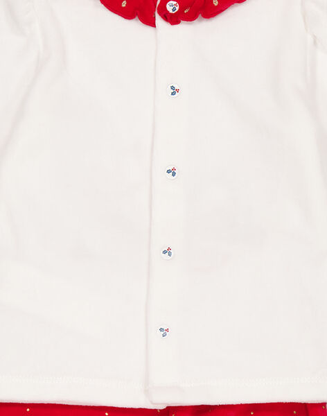 Pyjama de Noël en velours layette fille GEFIPYJNOEL / 19WH13T1PYJ001