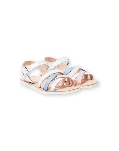 Sandales blanches enfant fille LFSANDCLAIRE / 21KK355KD0E000