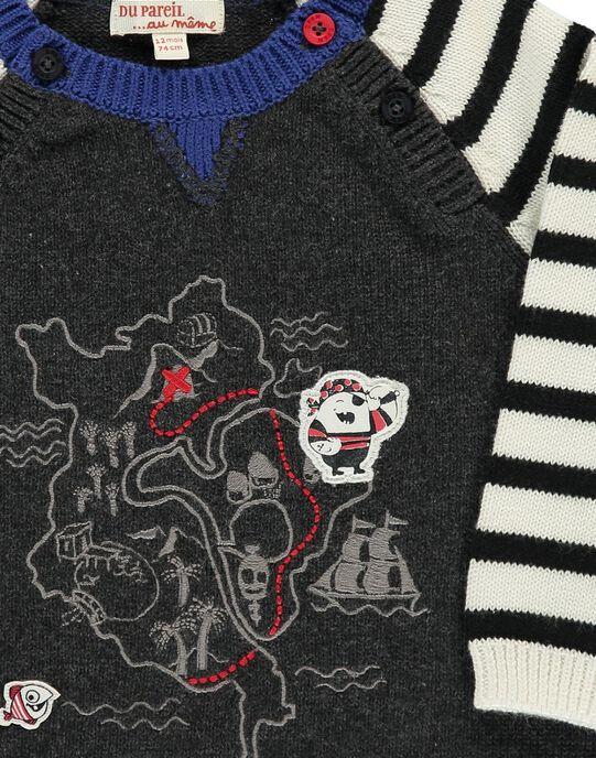 Pull en maille de coton bébé garçon CUBENPUL / 18SG10G1PUL944
