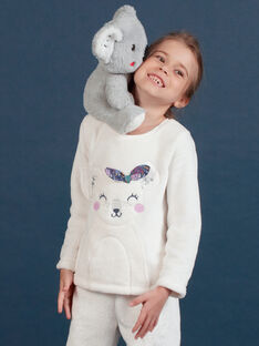 Ensemble pyjama en soft boa motif koala enfant fille MEFAPYJKOA / 21WH1199PYJ001
