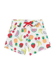 Short en jersey, imprimé fruits JAJERSHORT1 / 20S901T6D30001