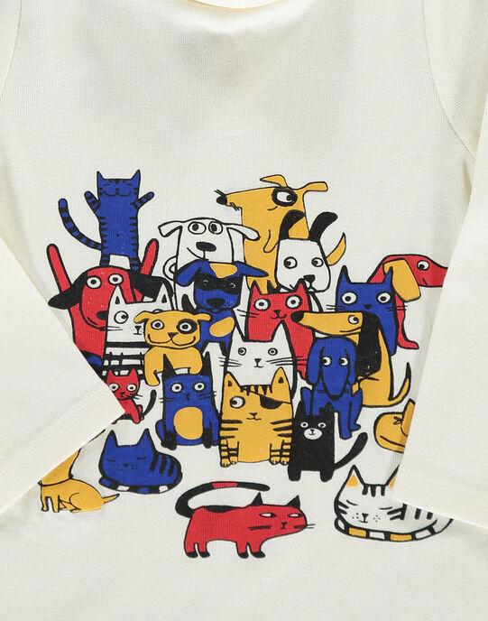 Sous-pull ''chiens et chats'' bébé garçon DUCHOSOUP / 18WG10F1SPL001