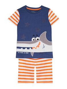 Pyjama court en jersey enfant garçon JEGOPYCREQ / 20SH1229PYJ205