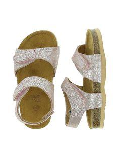 Sandale en cuir bébé fille CBFNUPINK / 18SK37W8D0E030