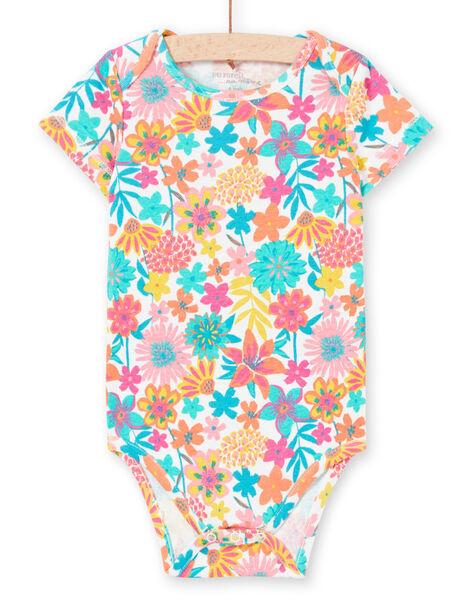 Body manches courtes imprimé fleuri coloré bébé fille MEFIBODANI / 21WH13B6BDL001