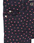 Pantalon garment dyed, imprimé cœur  KAJOPANT4 / 20W90133D2B070