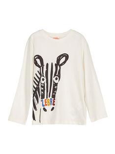 Tee-shirt manches longues fantaisie garçon FOBATEE2 / 19S90262TML001