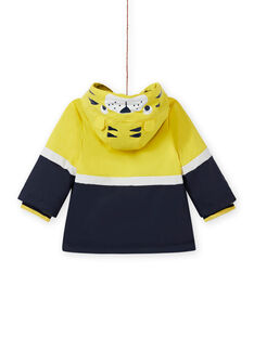 Imperméable jaune motif tigre bébé garçon MUGROIMP / 21WG1051IMP102