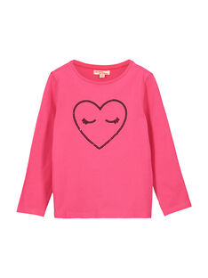 Tee-shirt manches longues fille FAJOTEE3 / 19S90133D32030