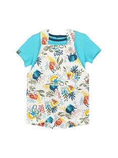 Ensemble salopette tee-shirt bébé garçon FUTUENS / 19SG10F1ENS099