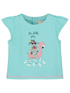Tee-shirt imprimé bébé fille FICUTI2 / 19SG09N2TMC219