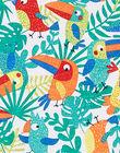Salopette courte imprimé oiseaux multicolores bébé garçon JUMARSAC / 20SG10P1SAC000